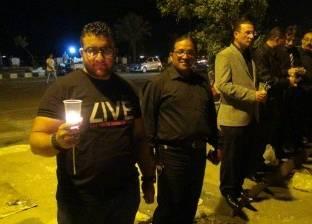 وقفة بالشموع والملابس السوداء تضامنا مع ضحايا الطائرة المنكوبة في السويس