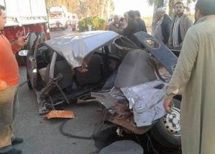 إصابة 4 في تصادم سيارتين بطريق مطروح ـ إسكندرية