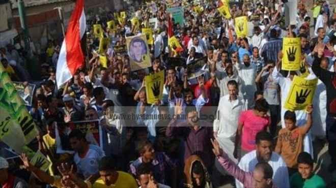 مسيرات محدودة للإخوان بالشرقية تطالب بمقاطعة الاستفتاء وتحرق صور
