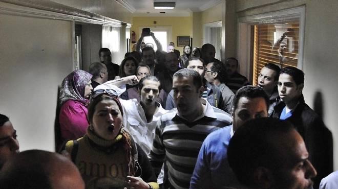 الأمن يفض اعتصام صحفيي