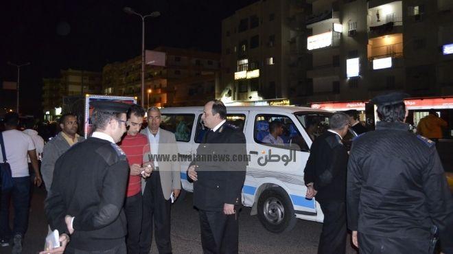 سائق مقطورة يعتدي على ضابط مرور